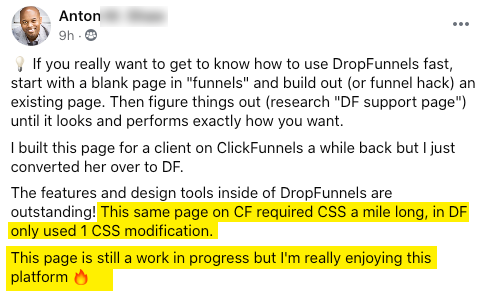Thrilled he doesn't need mile long css code.