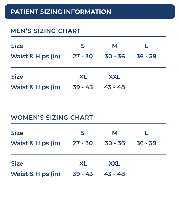 Patient Sizing Information