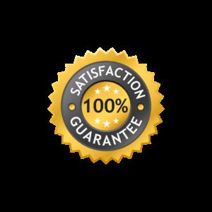 100% satisfaction guarantee label.