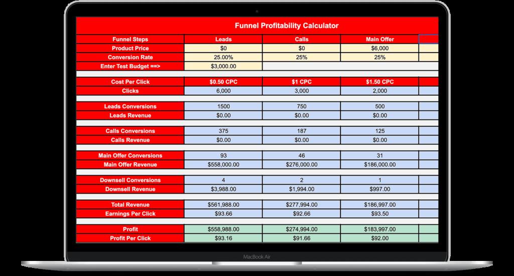Funnel Profit Calculator