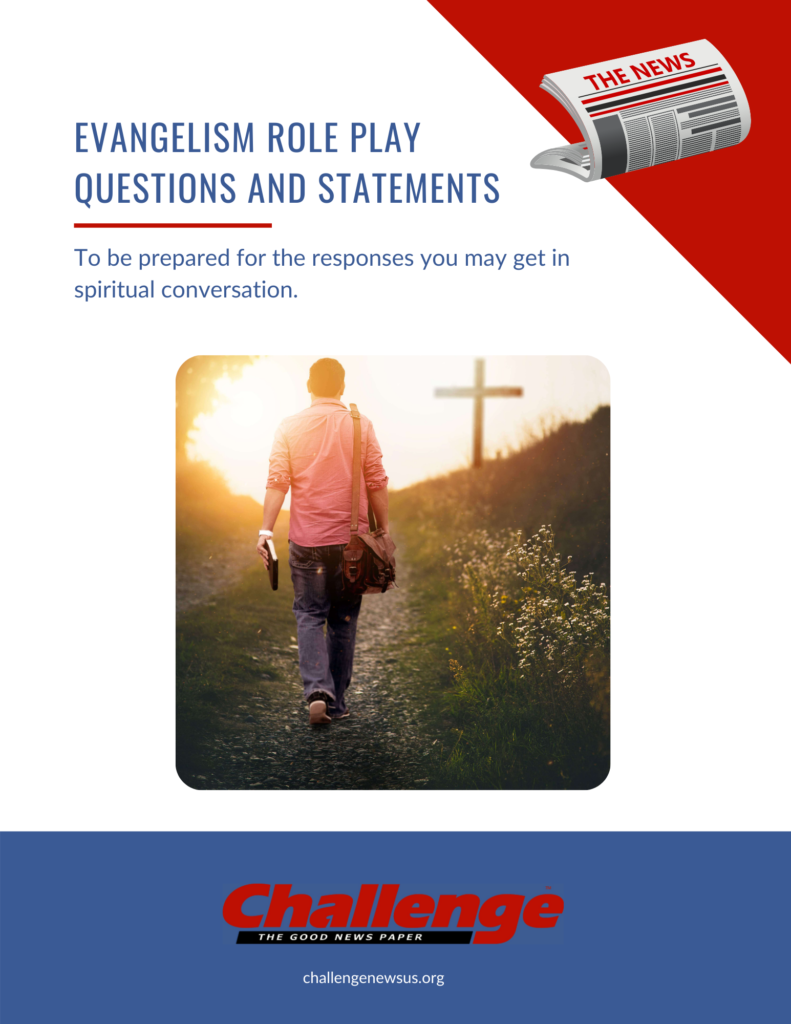 Evangelism Role Play Questions
