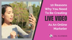 women creating live video as an online marketer