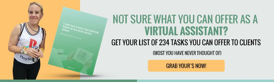 picture of a guide listing the 234 services you can offer as a virtual assistant