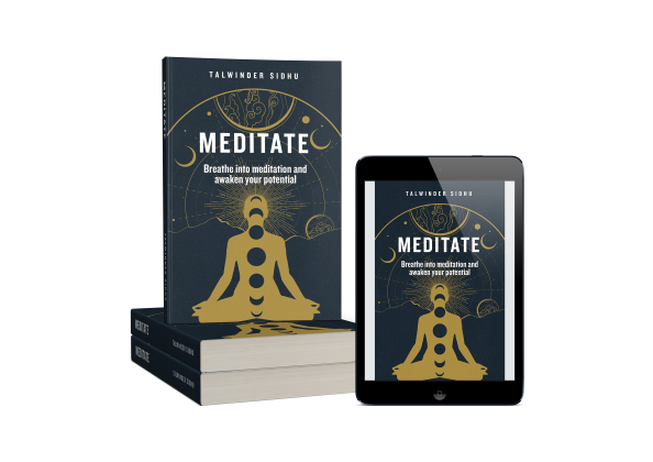 Get the Book - Meditate: Breathe into Meditation and awaken your potential, now available on Amazon