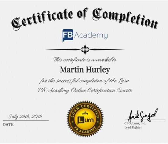 lurn fb academy certification