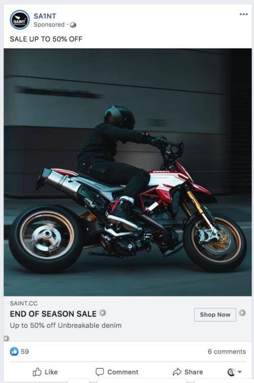 facebook ad examples - denims