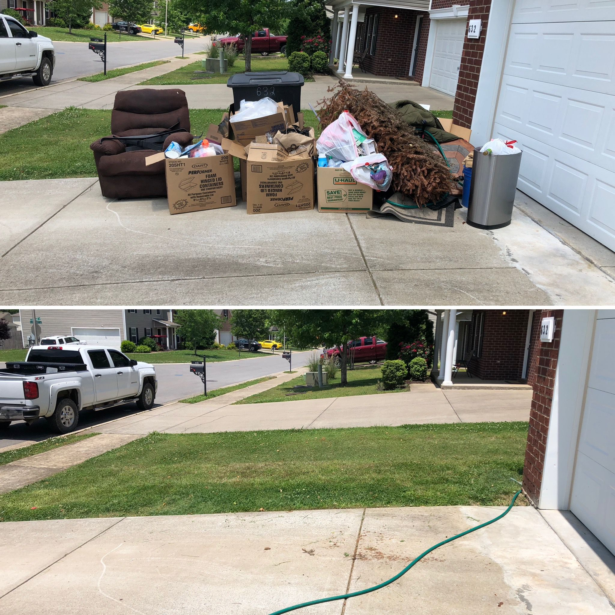 a quick trash cleanup hauled away with ease