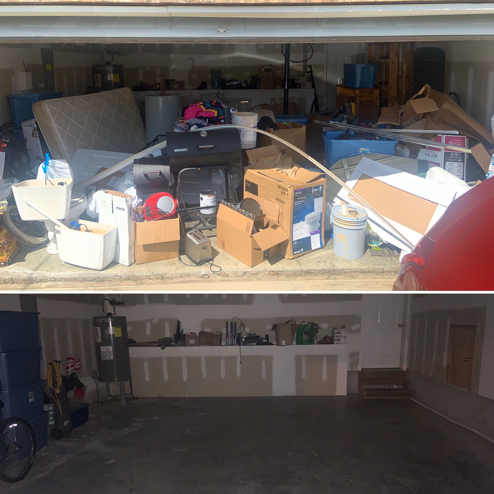 an awesome garage clean out