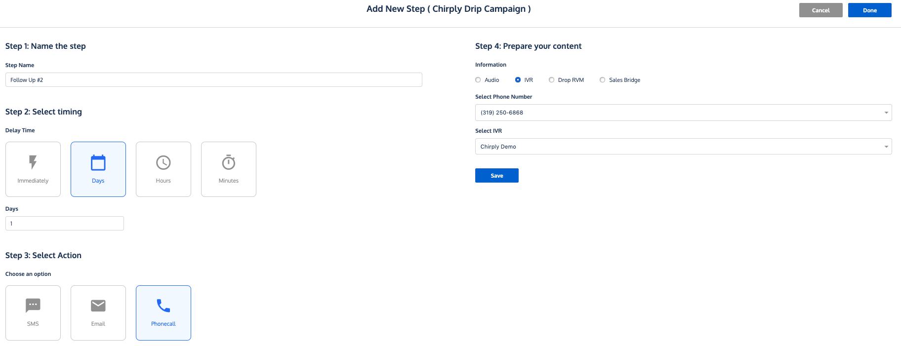 Campaign Step