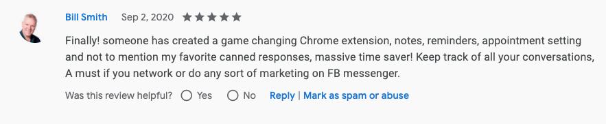 Bill Smith Genius Messenger CRM Google Review