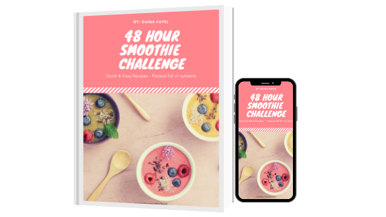 48 hour smoothie challenge mockup