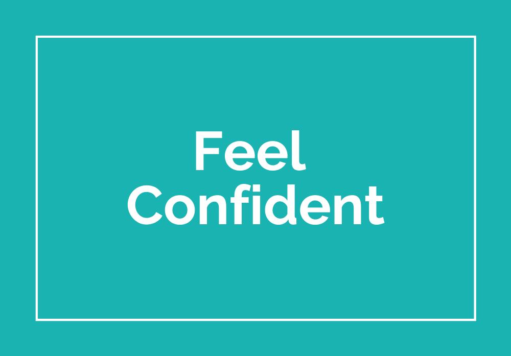 Mini Training Images - Feel Confident