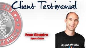 Client Support Pros - Evan Shapiro Testimonial