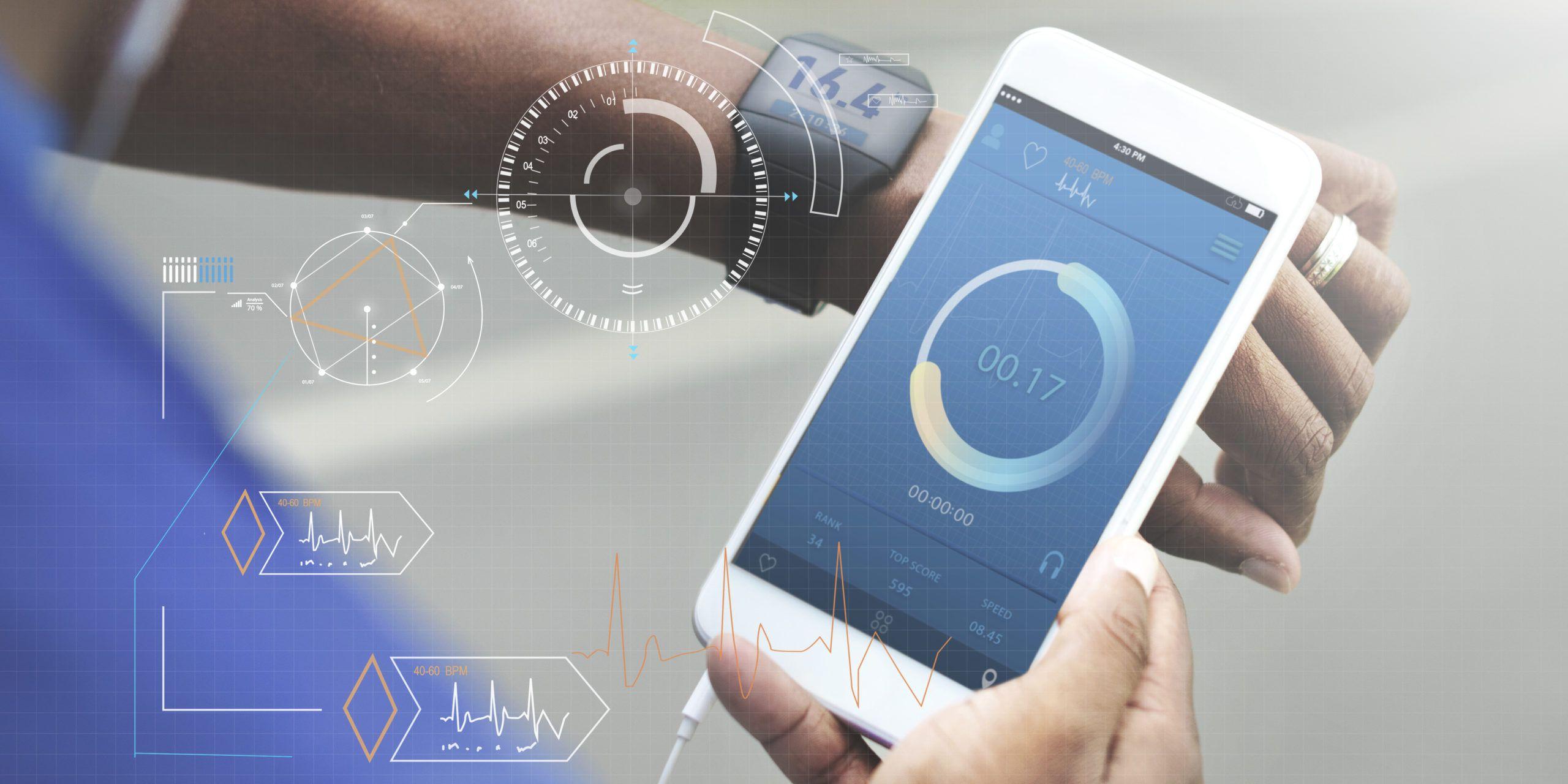 Fitness Tech Healthcare Wellness Innovation Concept